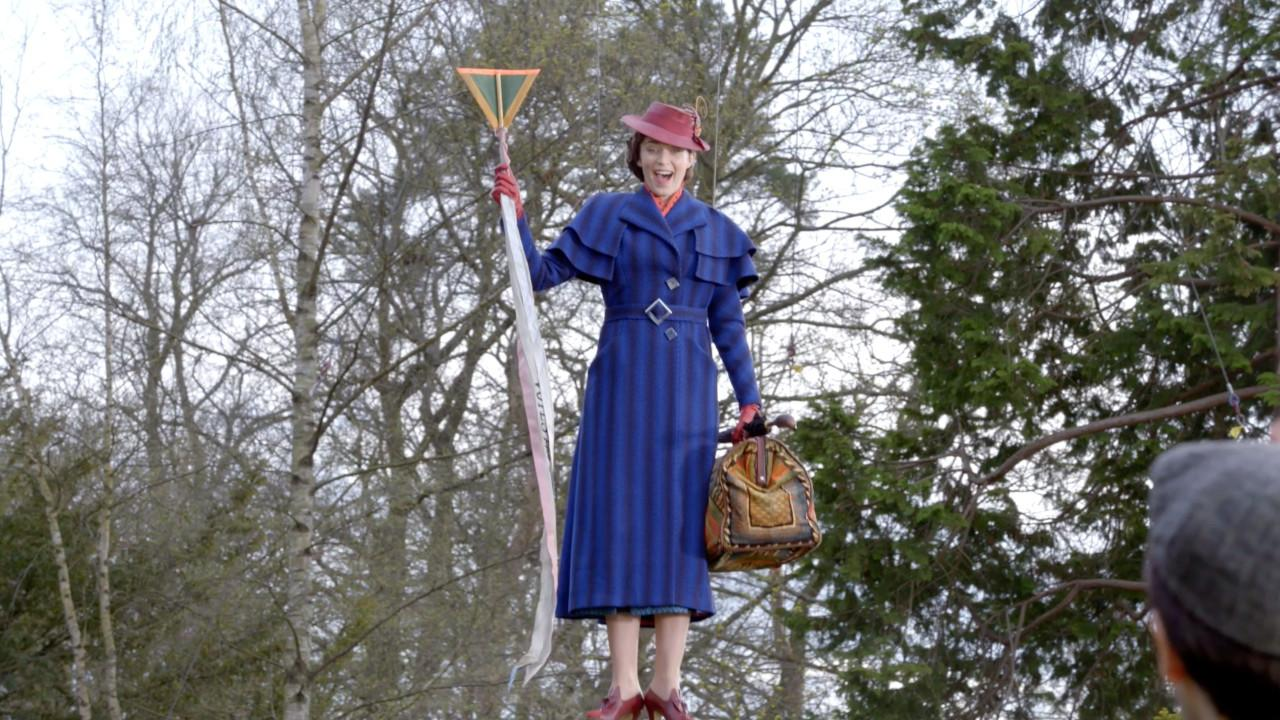 'Mary Poppins Returns' BTS Clip: Aerial Adventures