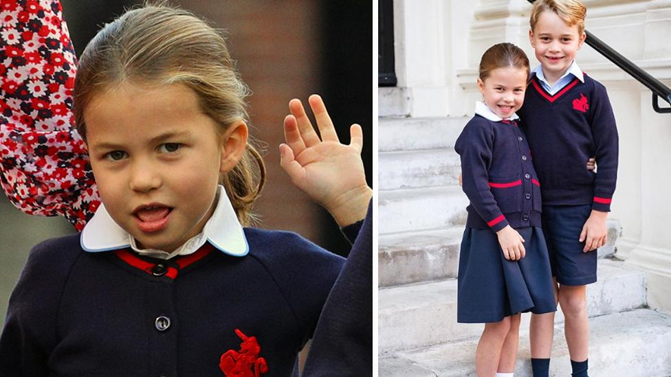 Princess Charlotte's official first day of school portrait