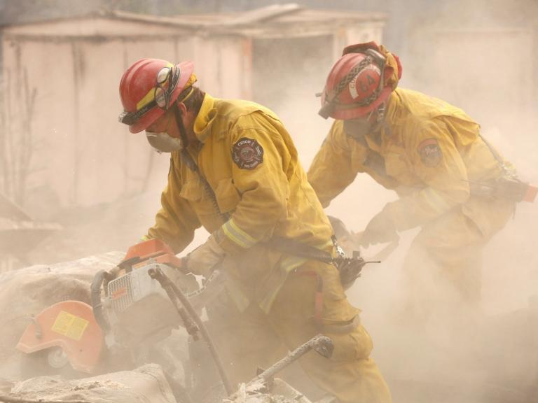 California wildfires - live: Death toll climbs to 50 as strong winds bring new blazes near Los Angeles