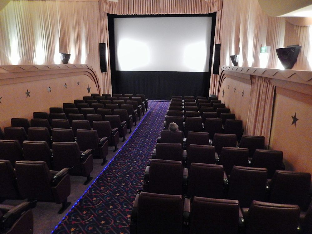 A near-empty movie theatre is seen in Exeter, Australia. (