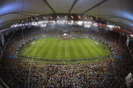 El estadio Maracaná en la final de la Copa del Mundo 2014, en Río de Janeiro, Brasil.