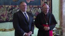 Pompeo meets Vatican officials amid tension over China