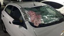 'Milagre', diz motorista de carro atingido por criança arremessada do 5º andar