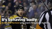 Backes ejected for head-butting; Marchand catches Tavares with late hit