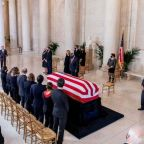 Ruth Bader Ginsburg death: Mourners gather at US Supreme Court