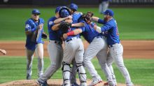 Cubs players celebrate Alec Mills' no-hitter on social media