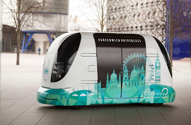Driverless pods begin ferrying the public around Greenwich