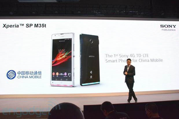 Sony announces the Xperia SP M35t, its first TD-LTE device for China Mobile