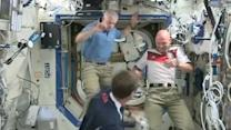 US and German astronauts talk about upcoming match between their countries