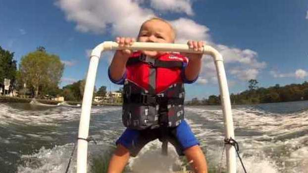 Water-Skiing Baby Returns With Another Water Triumph