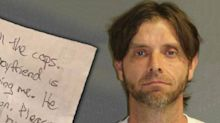 'He has a gun': Woman's desperate note to vet while held captive