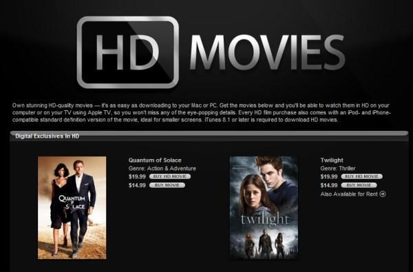iTunes 8.1.1 update adds support for HD rentals, but where are they?