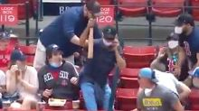 Red Sox Fan Makes Greatest Multitasking Bat Catch In Fenway History