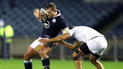 Fraser Brown leads Scotland to resounding victory over Georgia at Murrayfield
