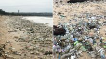 'Devastating': Rubbish covering beach leaves holiday hotspot unrecognisable