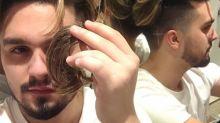Luan Santana corta cabelo em ação social: 'Vai alegrar a quem realmente precisa'