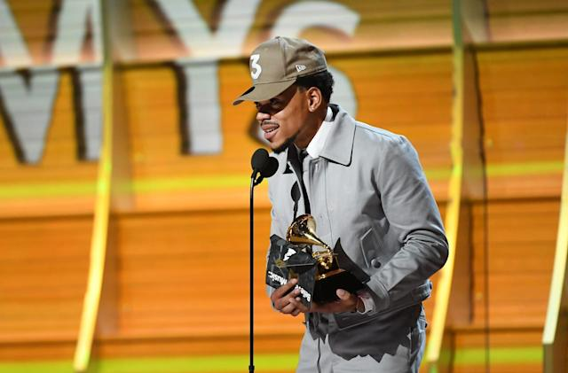 Chance the Rapper wins the first Grammy for a streaming-only album