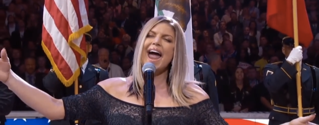 Watch Fergie's disastrous National Anthem performance