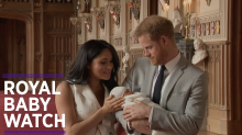 Meghan and Harry's first appearance with baby