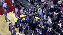 South Carolina State player conscious and stable after collapsing on the bench