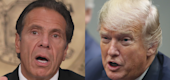 Andrew Cuomo, Donald Trump. (Yahoo Entertainment)