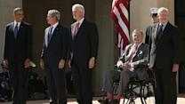 All Of Nation's Living Presidents Gather To Lie About Bush Presidency