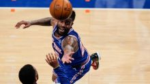 Burks scores 30, rallies Knicks past Spurs, 102-98