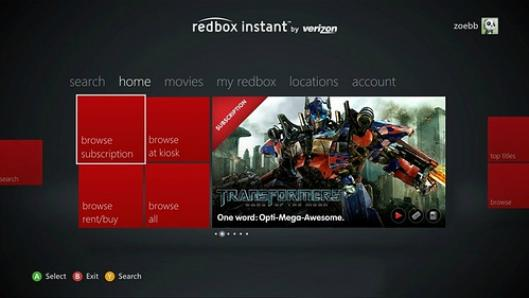 Redbox Instant, GameTrailers apps now on Xbox Live
