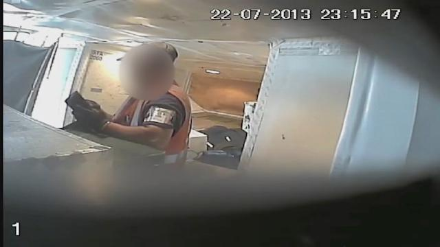 Exclusive Video: Airline Baggage Theft