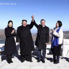 Kim Jong Un and Moon Jae In Wrap Up Summit at North Korea's Sacred Volcano