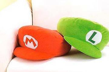 Mario and Luigi hats invade your couch