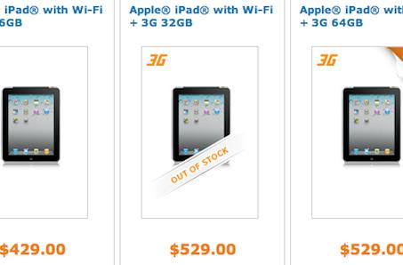 AT&T slashes prices of first-gen 3G iPads