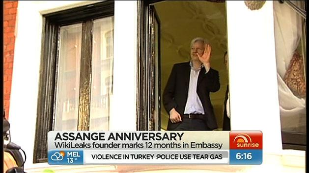 Assange's year in the Ecuador embassy