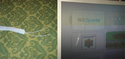 Errant Wiimote claims second TV's life
