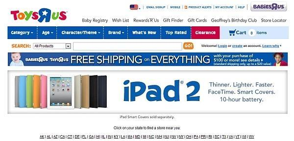 Sign of the times: iPad 2 heads to Toys R Us