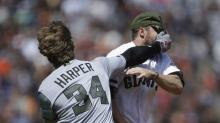 Nine ridiculous moments from the Bryce Harper/Hunter Strickland brawl