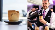 Air New Zealand trialling edible in-flight coffee cups