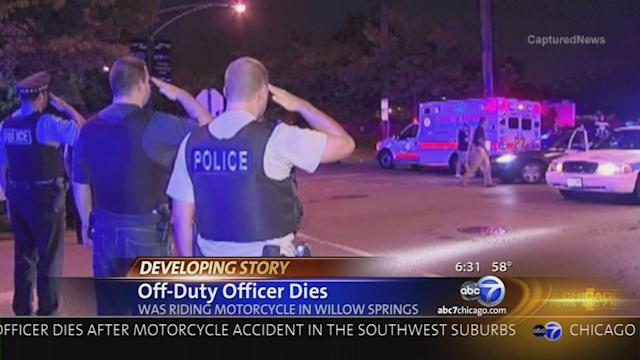 Police officer dies after having heart attack while riding motorcycle