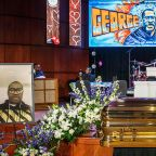 Mourners Gather For George Floyd Memorial In Minneapolis