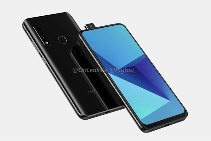Leak of Samsung phone with pop-up camera