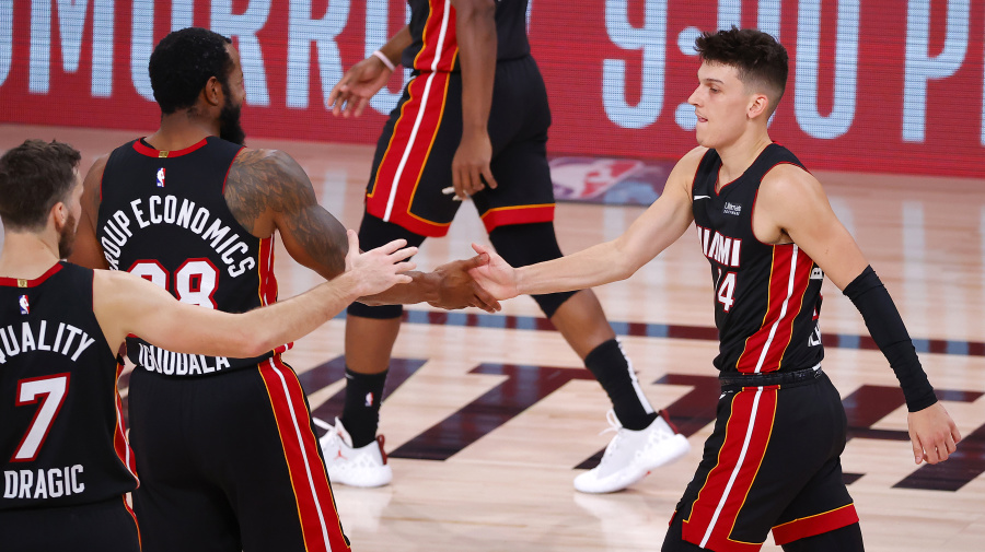Herro's career night pushes Heat to brink of NBA Finals