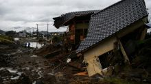 Rain pounds central Japan as 58 feared dead in south