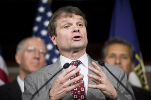 Rep. Mike Quigley, D-Ill., speaks as House Democrats hold a news conference to call for presidential action on immigration on Nov. 13, 2014.