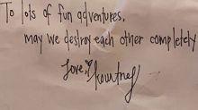 Kourtney Kardashian Writes Love Note to Boyfriend Travis Barker: 'To Lots of Fun Adventures'