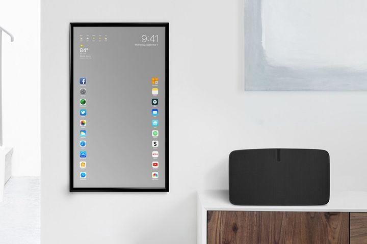 This smart mirror is actually a giant iphone for Mirror iphone to tv