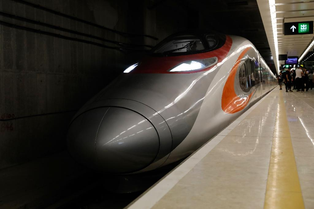 The new high-speed rail link is expected to cut the journey time between Hong Kong and Beijing to nine hours (AFP Photo/TYRONE SIU)