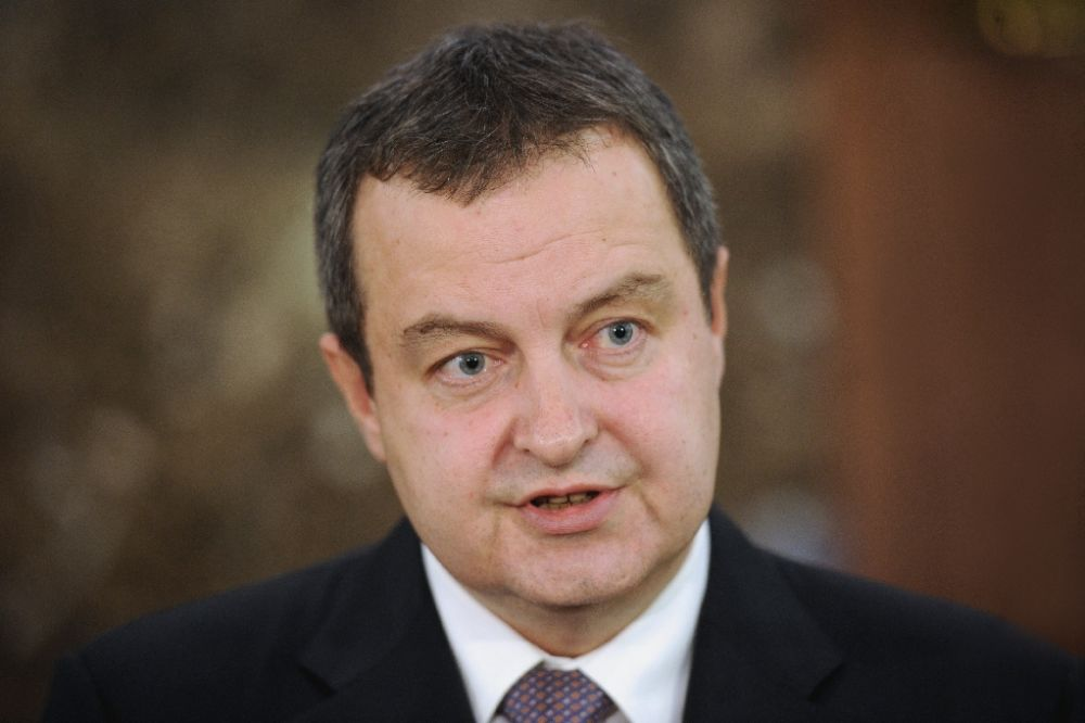"""Serbian Foreign Minister Ivica Dacic said in a statement that """"pressures on Serbia to, diplomatically speaking, align its foreign policy with the EU... to impose sanctions against Russia, are absolutely unacceptable"""""""
