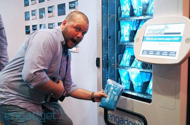 Get your Engadget tee at our CES vending machine: a guide