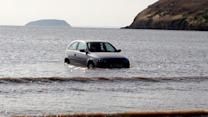 Rising Tide Takes Teenager's Car Out to Sea