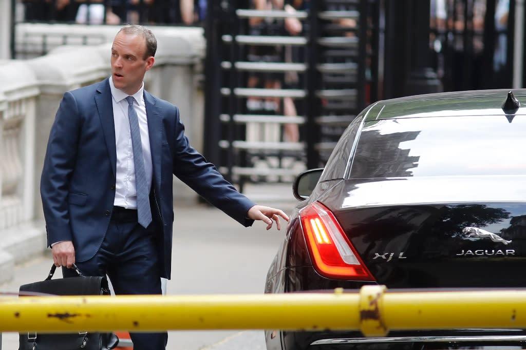 Dominic Raab will replace David Davis as Brexit minister (AFP Photo/Tolga AKMEN)
